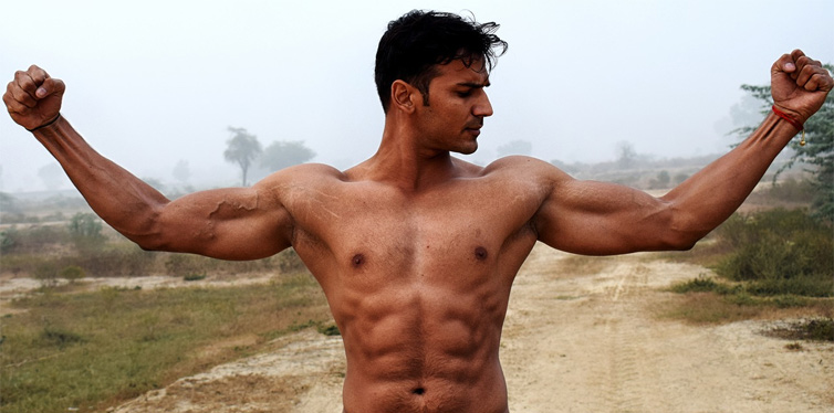 muscled man