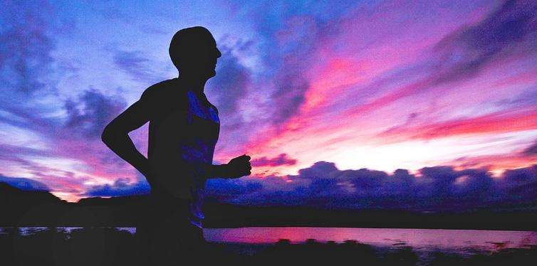 runner in the dark