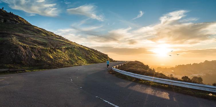 runner on the road