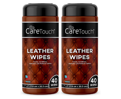 Care Touch Leather Cleaner Wipes