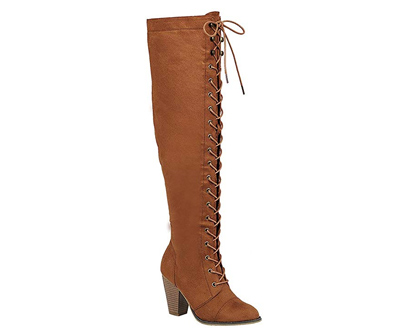 Forever Women's Chunky High Riding Boots