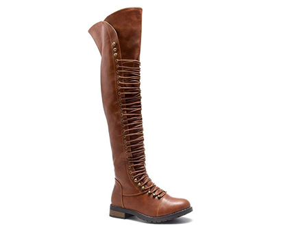 Herstyle Kristrrina Women Military Thigh High Combat Boots