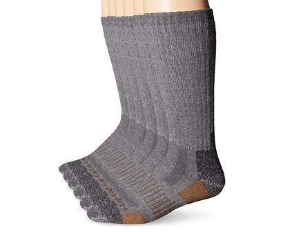 carhartt men's 6 pack all terrain boot socks