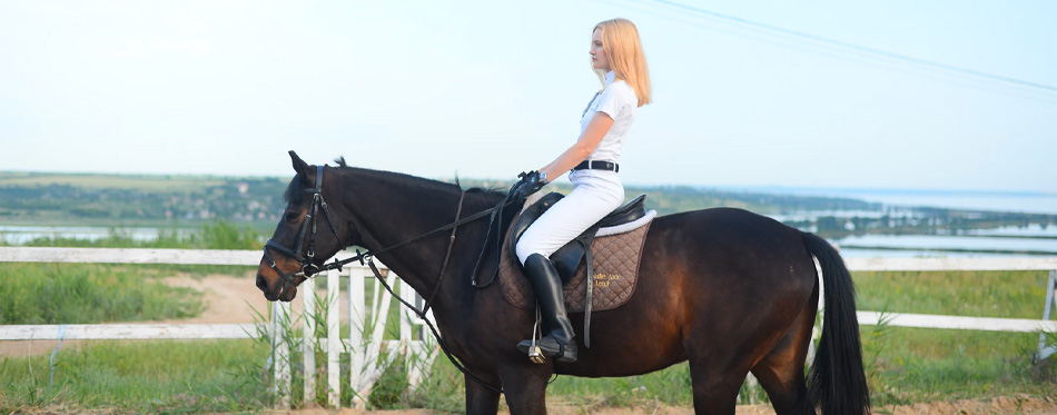 riding with slim calf boots