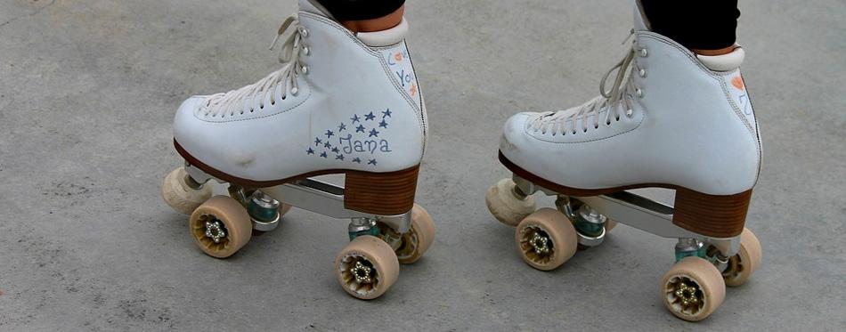 white roller blades
