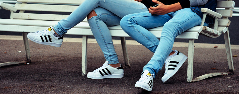 white sneakers couple