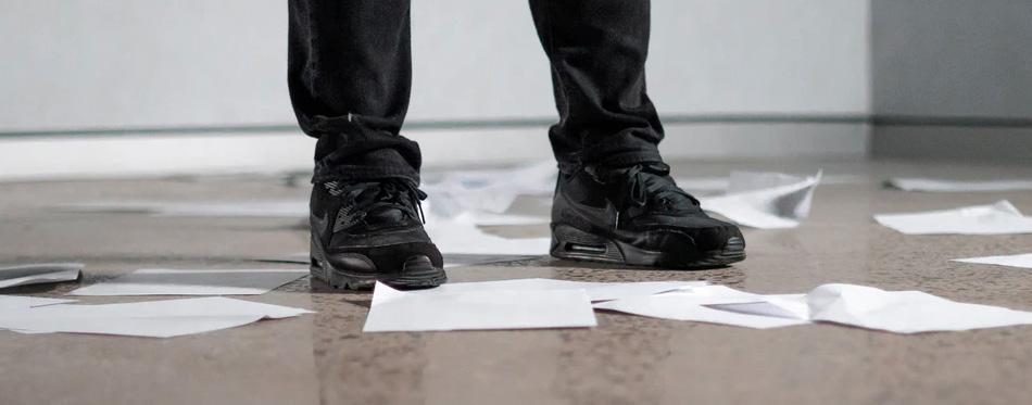 bartending black sneakers
