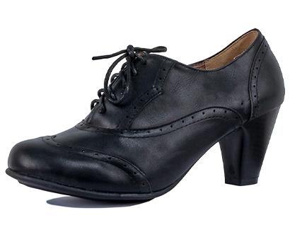guilty shoes women's mary jane oxford kitten heel pump