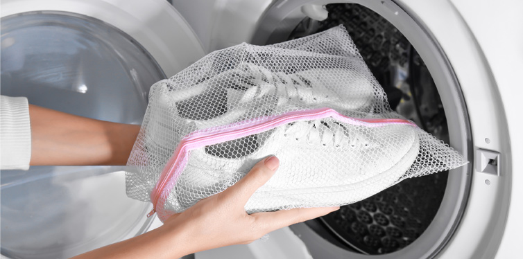 toss your shoes in the washing machine