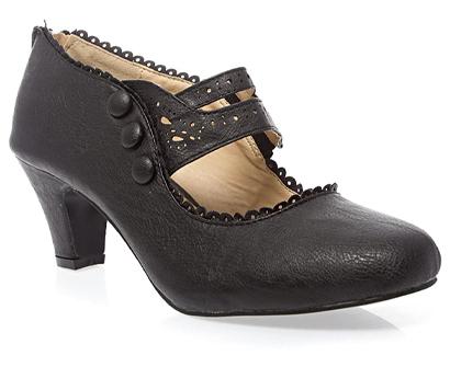 v-luxury women's closed toe mary jane high heel shoes