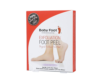 baby foot original exfoliant foot mask peel