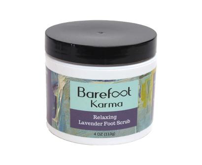 barefoot karma relaxing lavender foot scrub