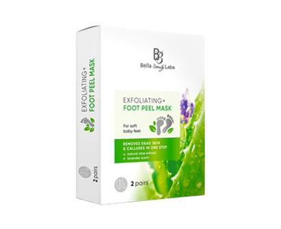 bella beauty labs exfoliating foot mask peel