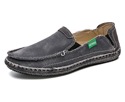 casmag casual cloth canvas loafers leisure