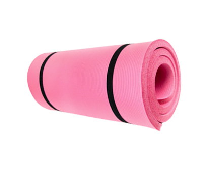 crown sporting goods yoga cloud ultra-thick1 yoga and exercise mat with shoulder sling