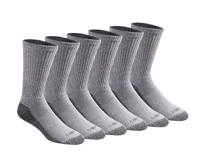 dickies men's dri-tech moisture control crew socks