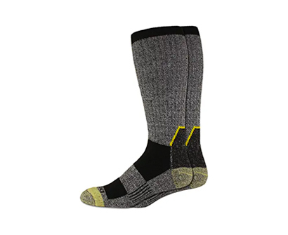 dickies men's kevlar reinforced steel toe crew socks
