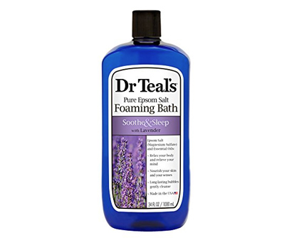 dr. teal's foaming bath with pure epsom salt