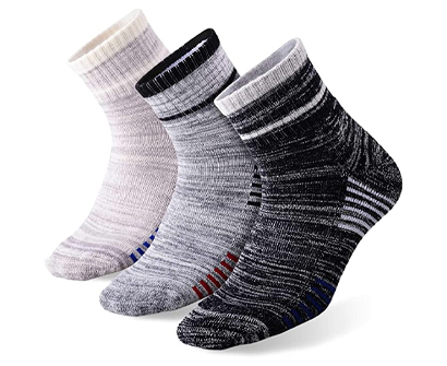 feideer men's wicking cushioned crew socks
