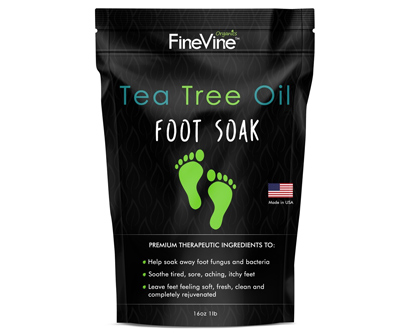 finevine tea tree oil foot soak with epsom salt