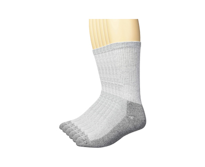 fruit of the loom men's reinforced cushion full crew socks