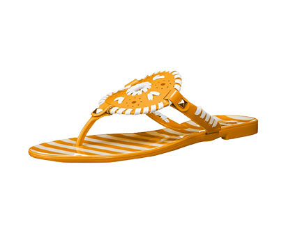 jack rogers women's striped georgica jelly flat sandal