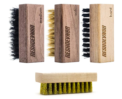 reshoevn8r shoe cleaning set of 4 brushes
