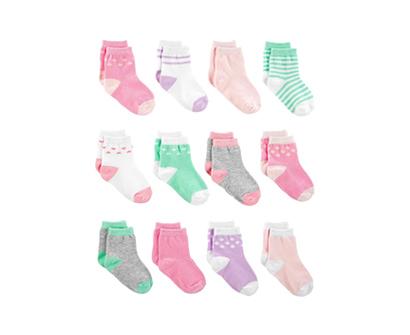 simple joys by carter baby girl 12 pack socks
