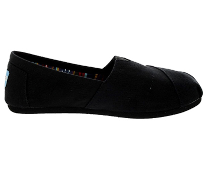 toms women's black canvas alpargata