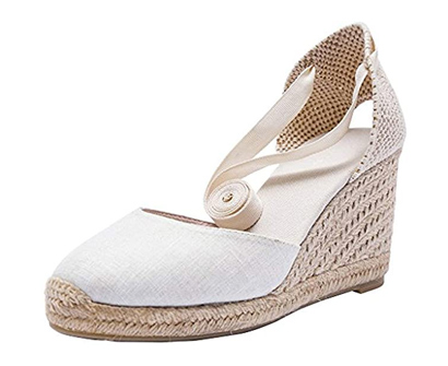 u-lite cap toe platform wedges sandals