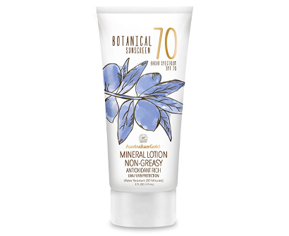australian gold botanical sunscreen mineral lotion spf 70