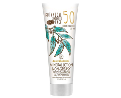 australian gold botanical sunscreen tinted face mineral lotion