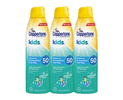 coppertone kids sunscreen continuous spray