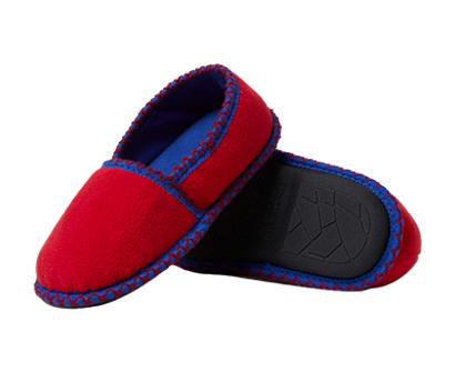 dearfoams kids' df boy's fleece closed back slipper