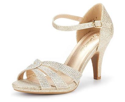 dream paris women's stilettos open toe pump heel sandals