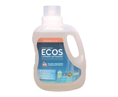 earth friendly products ecos magnolia & lily liquid laundry detergent, 200 loads
