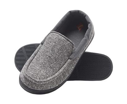 hanes boy's slipper moccasin house shoe