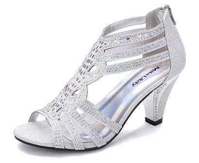 mila lady women's lexie crystal dress heeled sandal