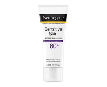 neutrogena sensitive skin sunscreen lotion with broad-spectrum spf 60+