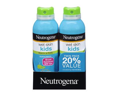 neutrogena wet skin kids sunscreen spray