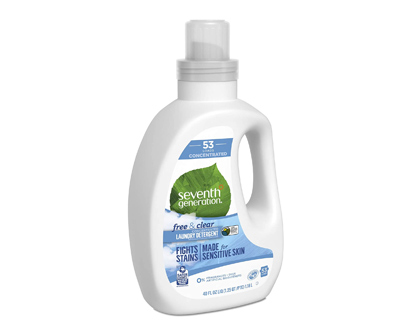 seventh generation free & clear unscented laundry detergents, 106 washes