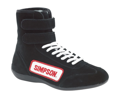 simpson racing 28100bk high-top shoes
