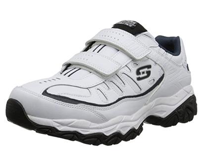 skechers men's afterburn strike memory foam velcro sneaker