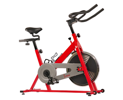 sunny health & fitness stationary indoor cycling bike with 30 lb flywheel