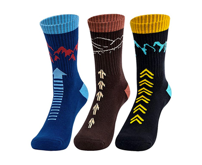 time may tell men's moisture wicking crew socks