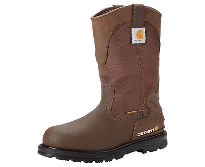 carhartt waterproof steel toe leather wellington boots for men