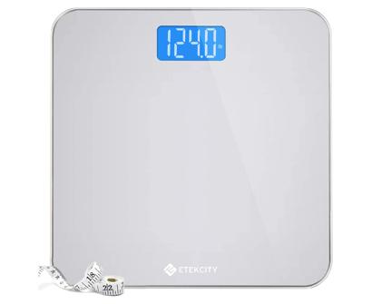 etekcity digital body weight bathroom scale with tape measure