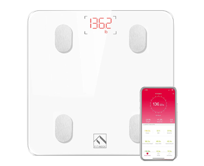 fitindex wireless bmi bathroom weight scale