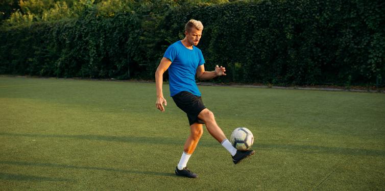 football training with good gear