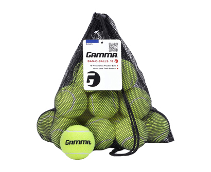 gamma bag of pressureless tennis balls